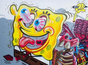 Nychos Spongebob Mural